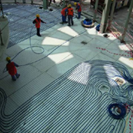 Yas Island Underfloor Cooling Construction